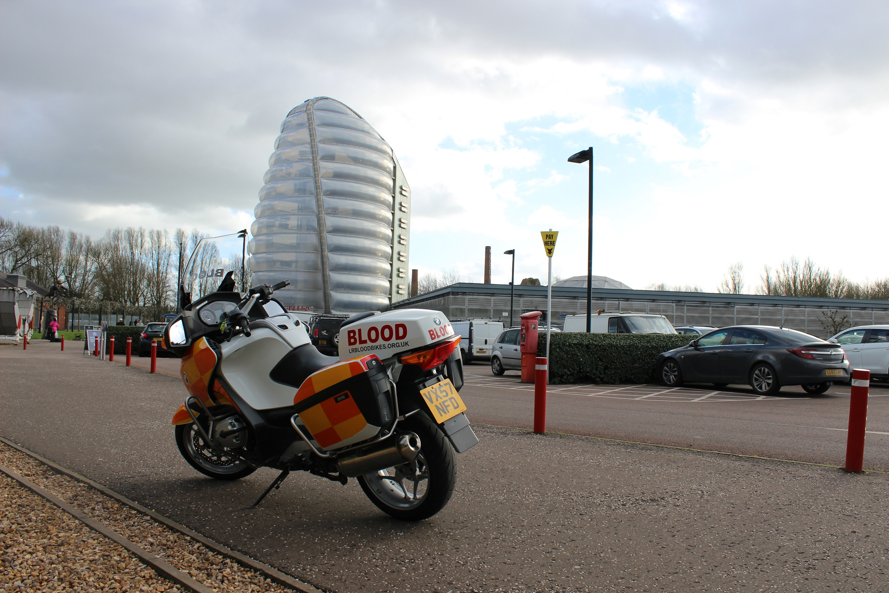 Leicestershire & Rutland Blood Bikes - Space Centre